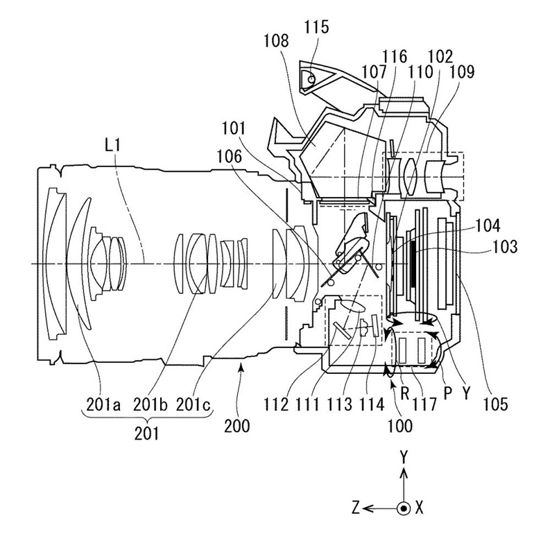 Патент Canon на матричный стабилизатор для зеркалок