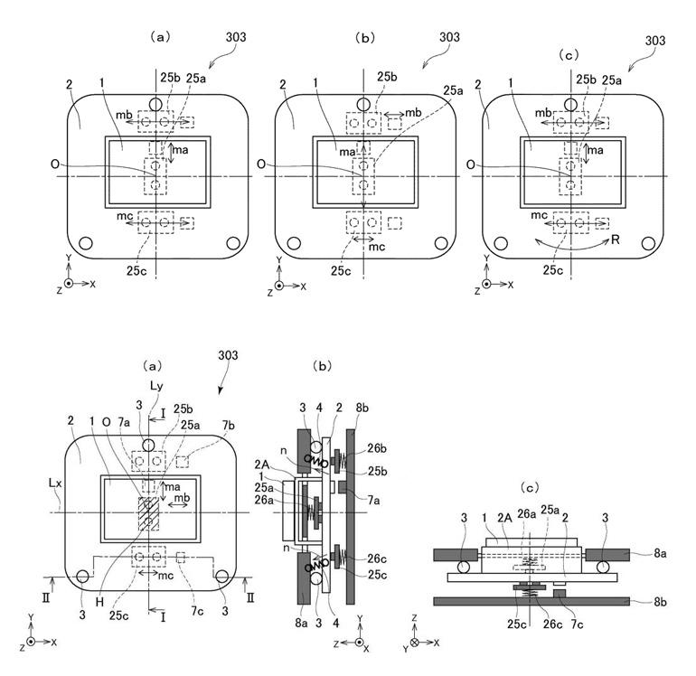 Патент Canon на матричный стабилизатор