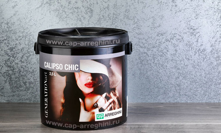 Декоративная краска Calipso Chic (калипсо шик) для стен с эффектом песка