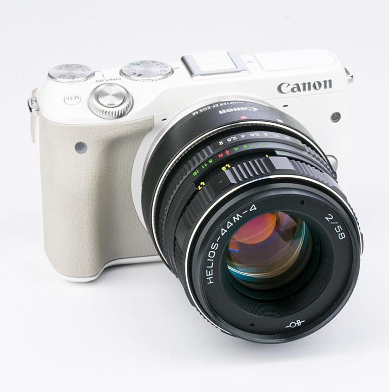 Canon EOS M3 + Объектив Helios 44m с адаптером М-42 и адаптером Canon Mount Adapter EF-EOS M
