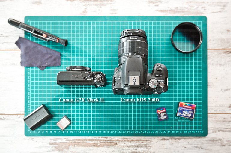 Canon G7X Mark II vs Canon 200D