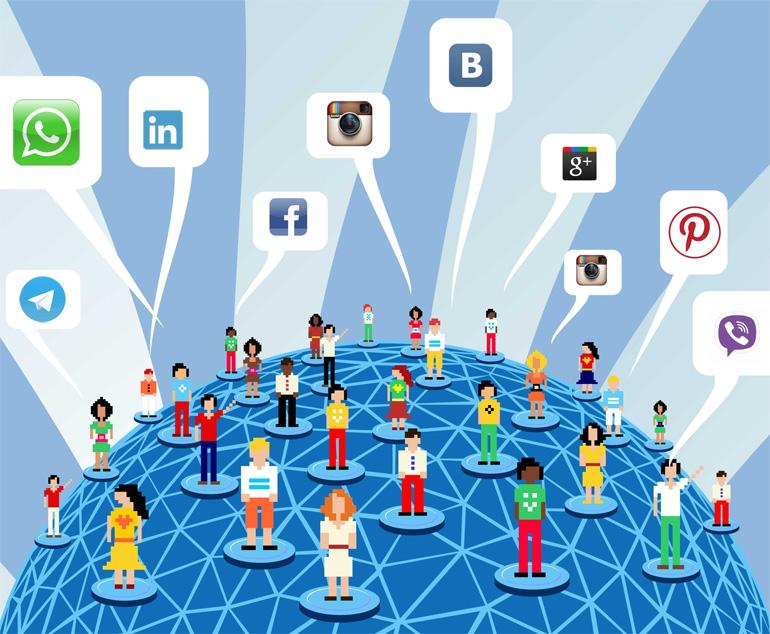 Все люди идут в социальные сети