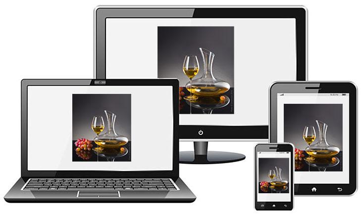 Отображение фото на разных экранах