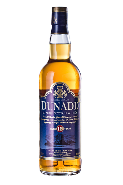 Фотосъемка алкоголя, Dunadd 12 Year Old Blended Scotch Whisky