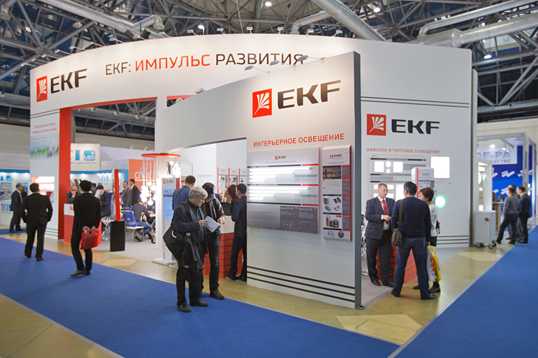 Стенд компании EKF на выставке Interlight Moscow powered by Light+Building 2014 в Москве